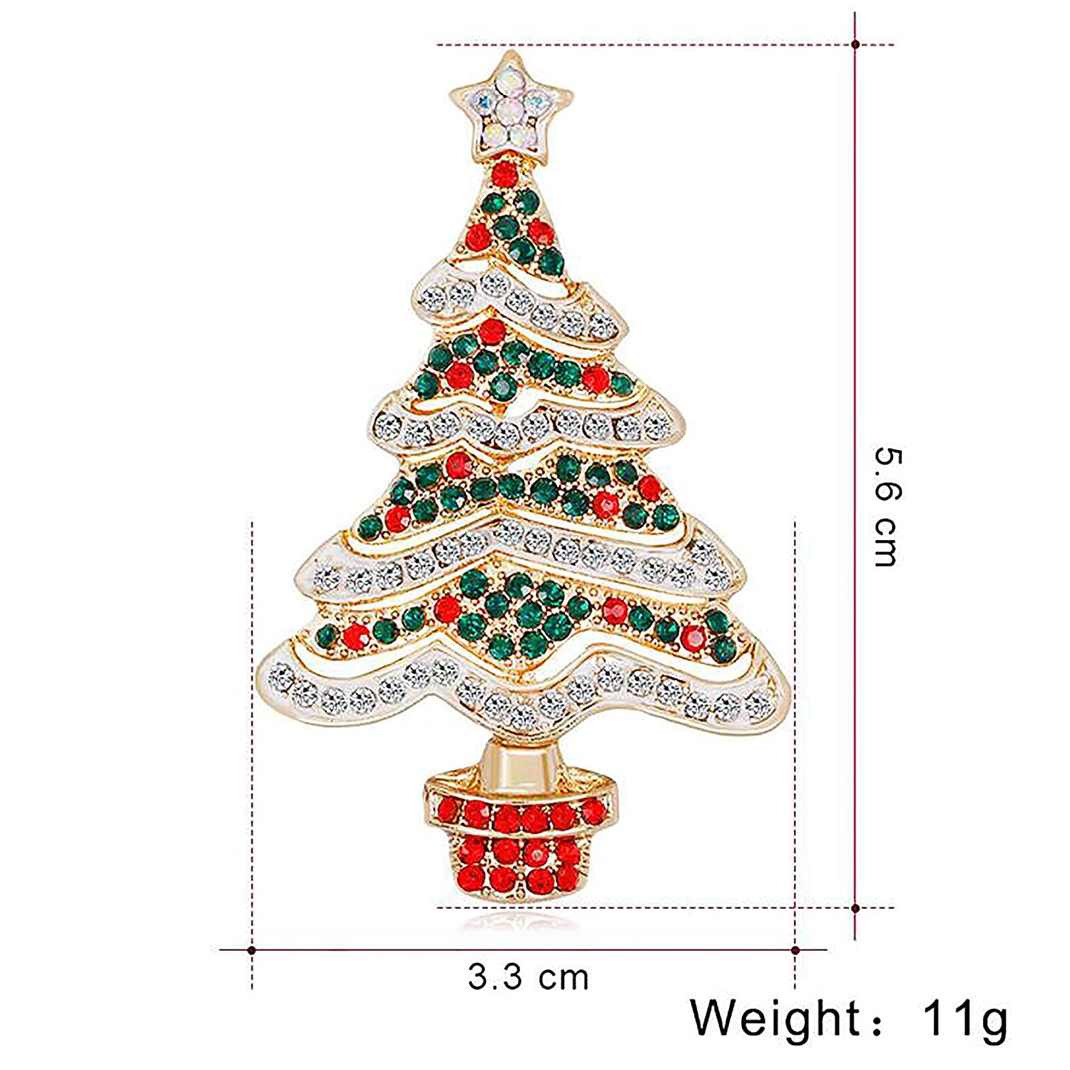 Amazon Com Jewelry Christmas Brooch Pins Set Holiday Brooch
