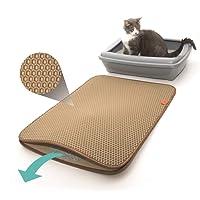 Pfotenolymp Premium Katzenklo Vorleger Entleerungshilfe - große Katzenstreu Matte ALS Unterlage für Katzentoilette