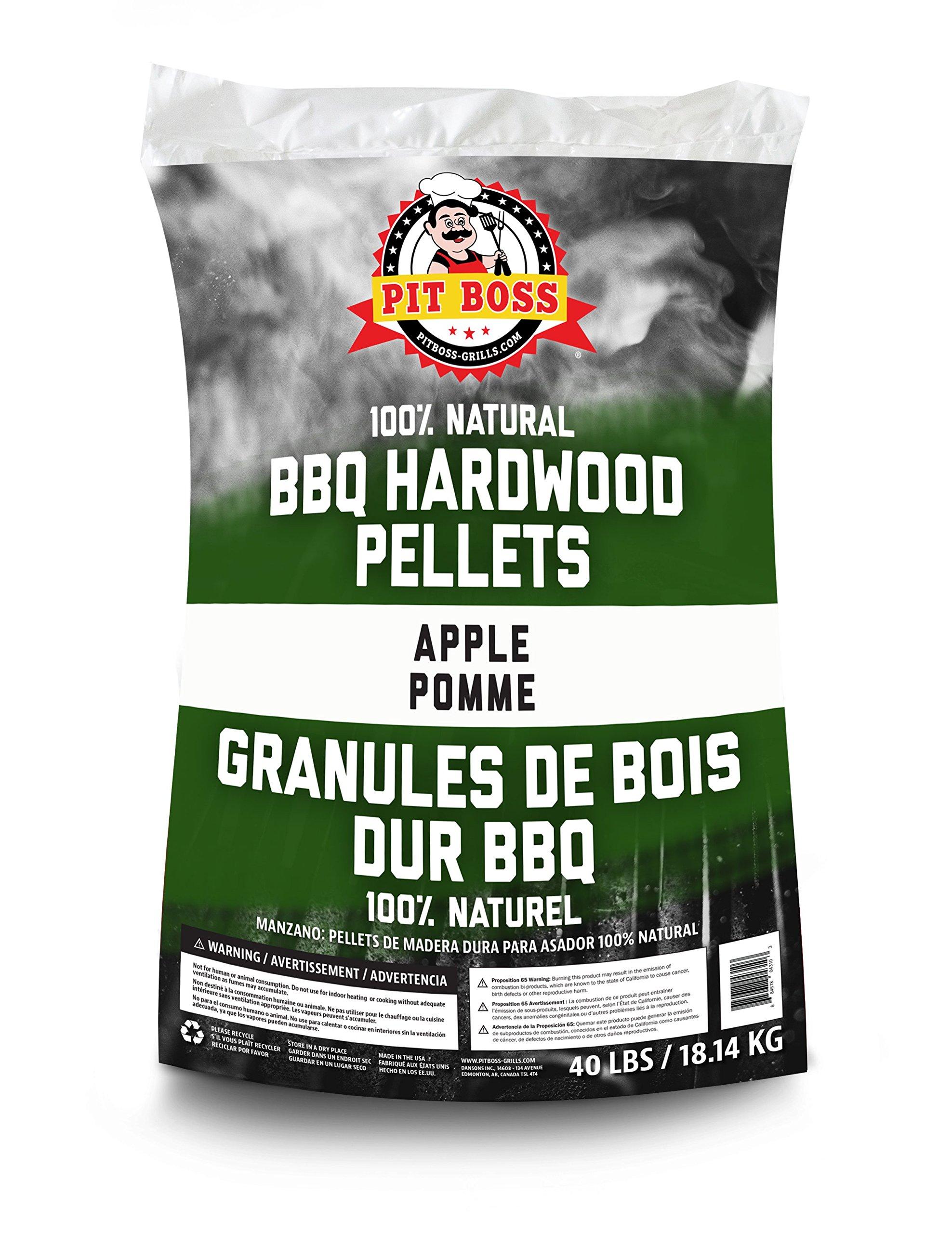 PIT BOSS 55433 BBQ Wood Pellets, 40 lb, Apple by PIT BOSS