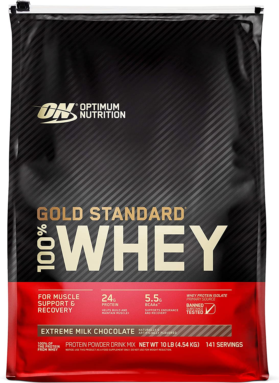 100% Whey Gold Standard, Extreme Milk Chocolate, 10 Pound by Optimum Nutrition