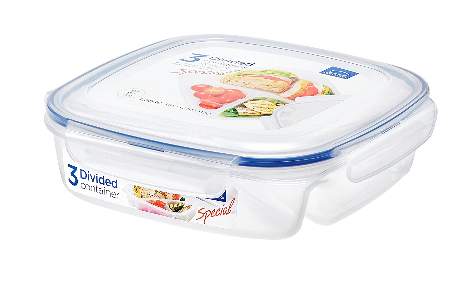 LOCK & LOCK Appetizer & Dessert Square Food Storage Container with Handle 219.79-oz / 27.47-cup LOCK & LOCK USA INC. HPL893