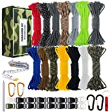 WEREWOLVES 550 Paracord - Survival Paracord Bracelet Crafting Kits Crafting Kits - Parachute Cord with Soft Tape Measure…