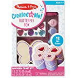 Melissa & Doug Decorate-Your-Own Wooden Butterfly Box Craft Kit