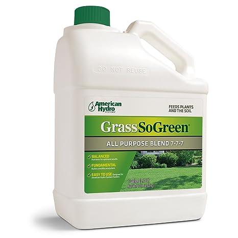 Grass So Green 7-7-7 F4G Formula is an Environmentally-Friendly Liquid  Fertilizer that is Applied Through an American Hydro Systems Feeder System  in