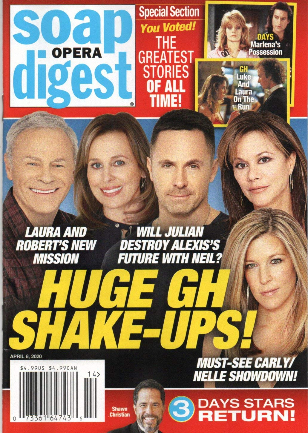 Soap Opera Digest Magazine April 6 2020 Tristan Rogers Genie Francis William Devry Nancy Lee Grahn Laura Wright General Hospital The Greatest Stories Of All Time Stephanie Sloane Stella Bednarz Amazon Com Books