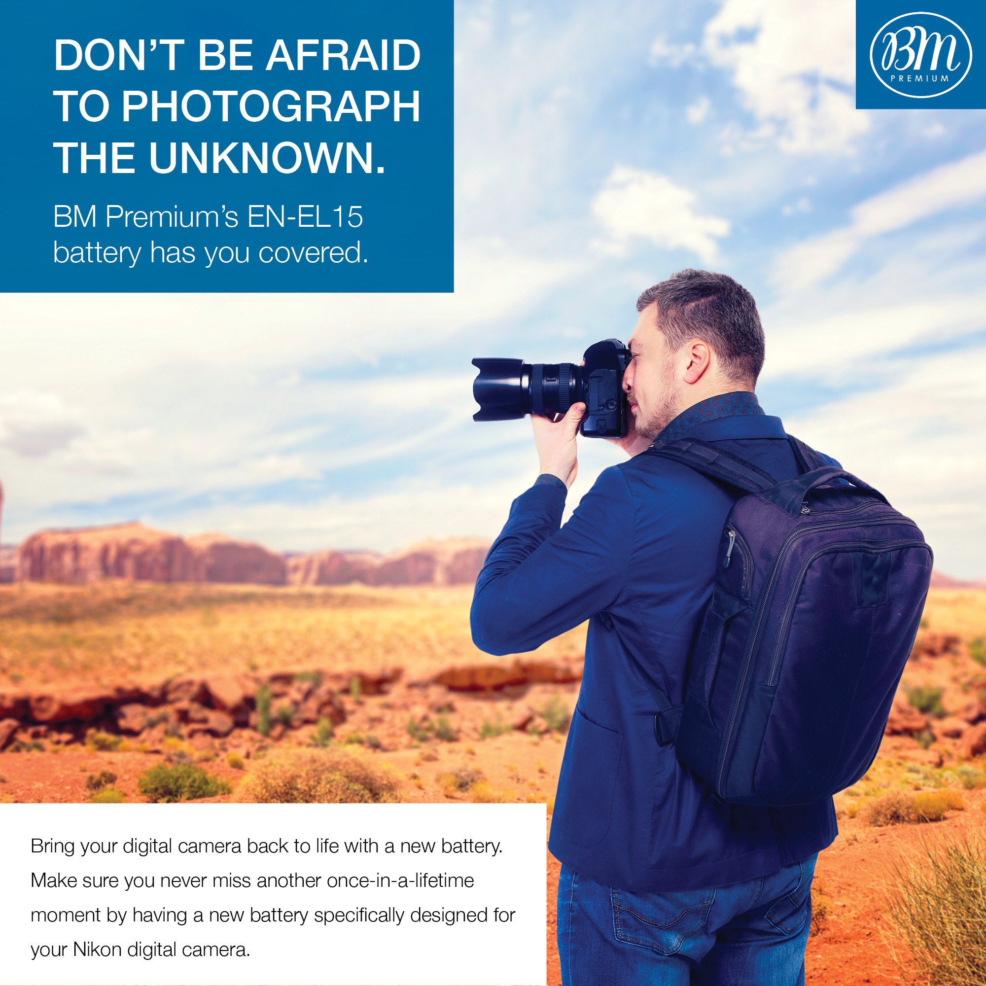BM Premium EN-EL15 Battery for Nikon D850, D7500, 1 V1, D500, D600, D610, D750, D800, D800E, D810, D810A, D7000, D7100, D7200 Digital SLR Camera by BM Premium (Image #6)