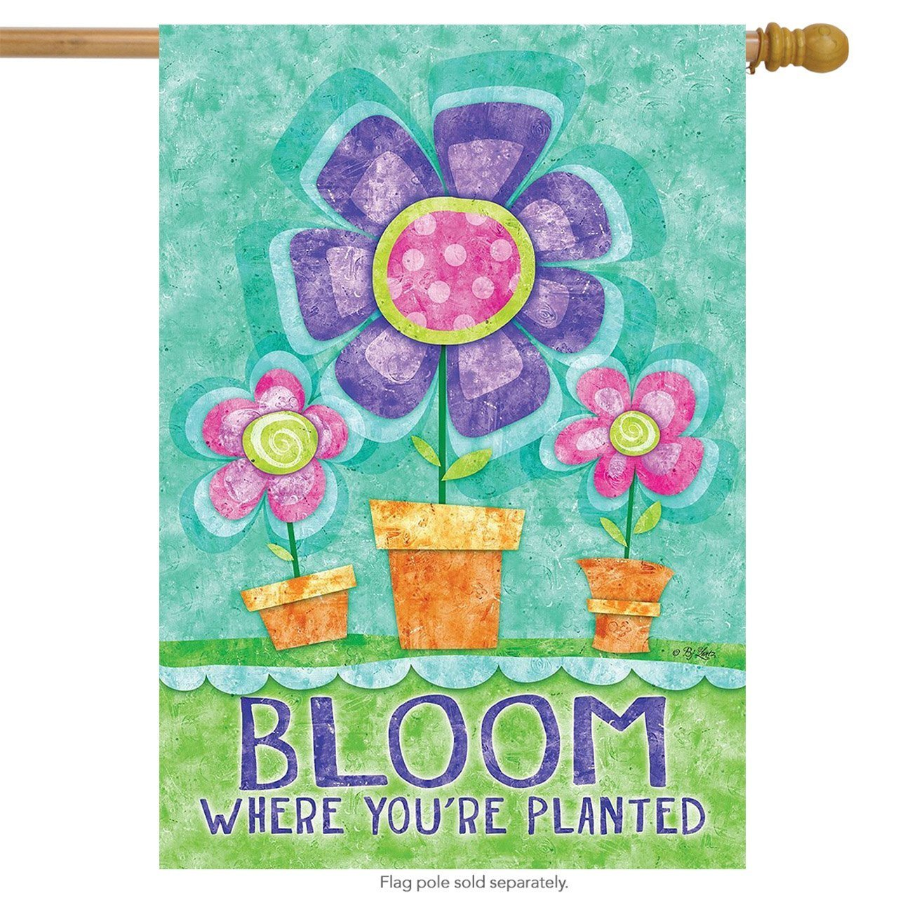 Bloo Spring House Flag Inspirational Floral 28' x 40' Weststyle