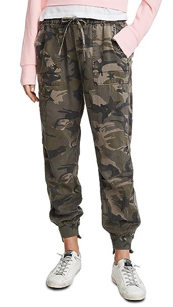 bad770f137f53 Pam & Gela Women's Offset Cuff Pants, Camo & Star Print, Petite ...
