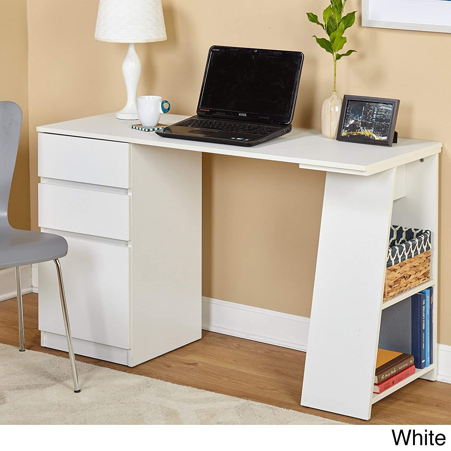 Simple Living Como Modern Writing Desk White by Simple Living