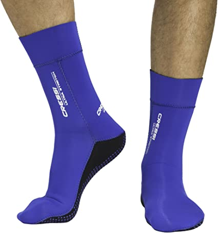 blue Cressi Ultra Stretch Fins Socks S//M