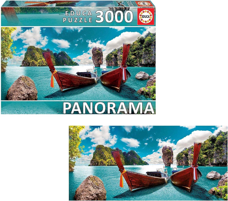 PUZZLE DE 3000 PIEZAS EDUCA 18581 PHUKET TAILANDIA  Puzzle PANORAMA 144 x 68 cm