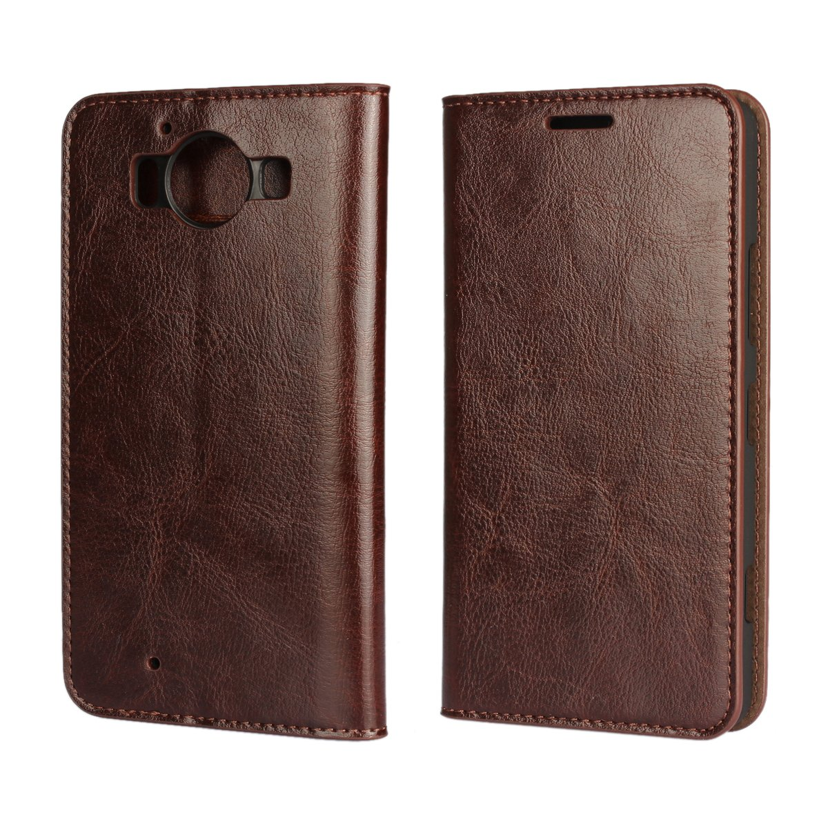 newest collection 5dc76 8914f Microsoft Lumia 950 Case,iCoverCase Genuine Leather Wallet Case [Slim Fit]  Folio Book Design with Stand and Card Slots Flip Case Cover for Microsoft  ...