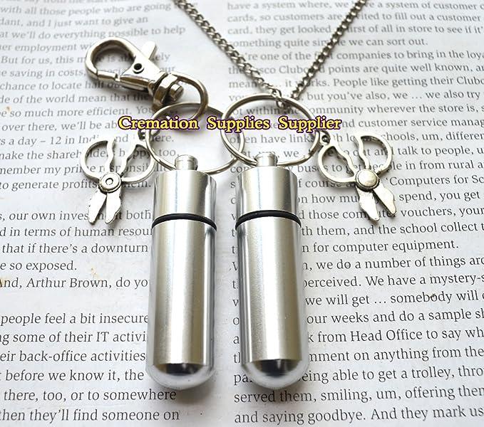 Amazon.com: Tijeras urna collar y llavero joyas – Collar ...