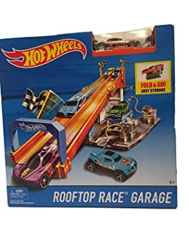 Hot Wheels Pista Garaje Rooftop Race Amazon Es Juguetes Y Juegos