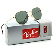 Ray-Ban RB3548N Hexagonal Flat Lenses Unisex Sunglasses 001 - 54mm