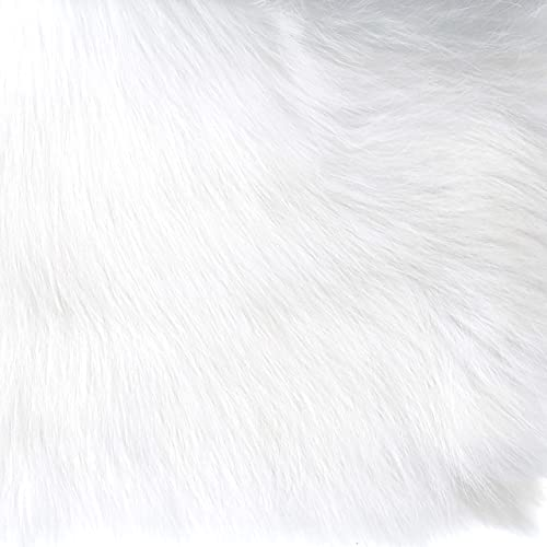 HomePop Faux Fur Poof Ottoman