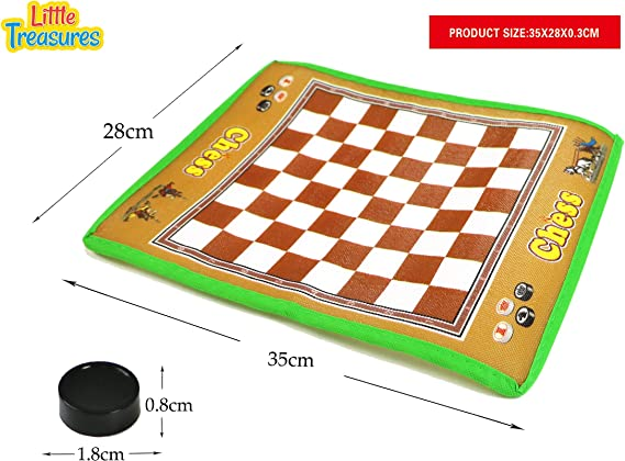 Match wits against your opponents in the classic board games of Chess and Checkers- giant board game for preschoolers learning