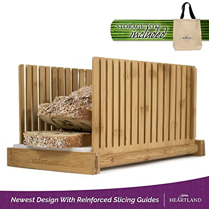 Rebanadora de pan con bolsa de almacenamiento gratuito, de Heartland