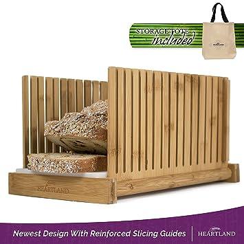 Compra Rebanadora de pan con bolsa de almacenamiento gratuito, de Heartland en Amazon.es