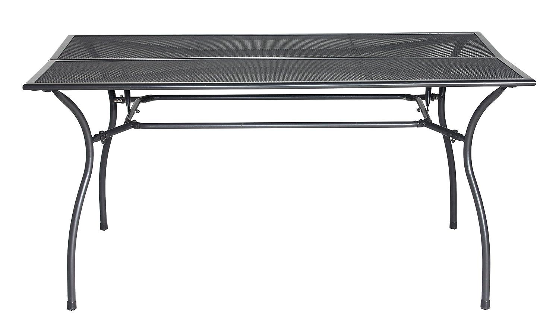 RRR Gartentisch 150 x 90, aus hochwertigem pulverbeschichtetem Streckmetall, rechteckig