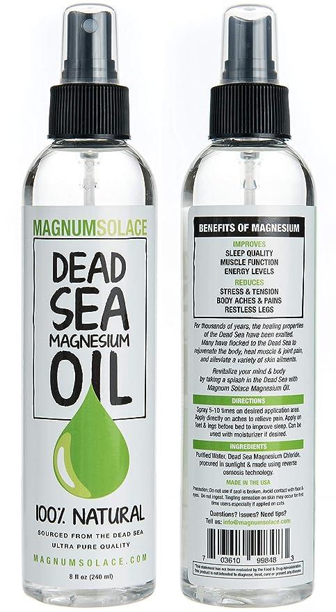 Aceite de Magnesio - Grande - Origen Excepcional el Mar Muerto 100% PURO (240 mL)