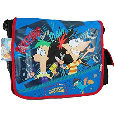 Phineas and Ferb Perry Agent P Bursting With Plans Big Messenger Bag tote purse