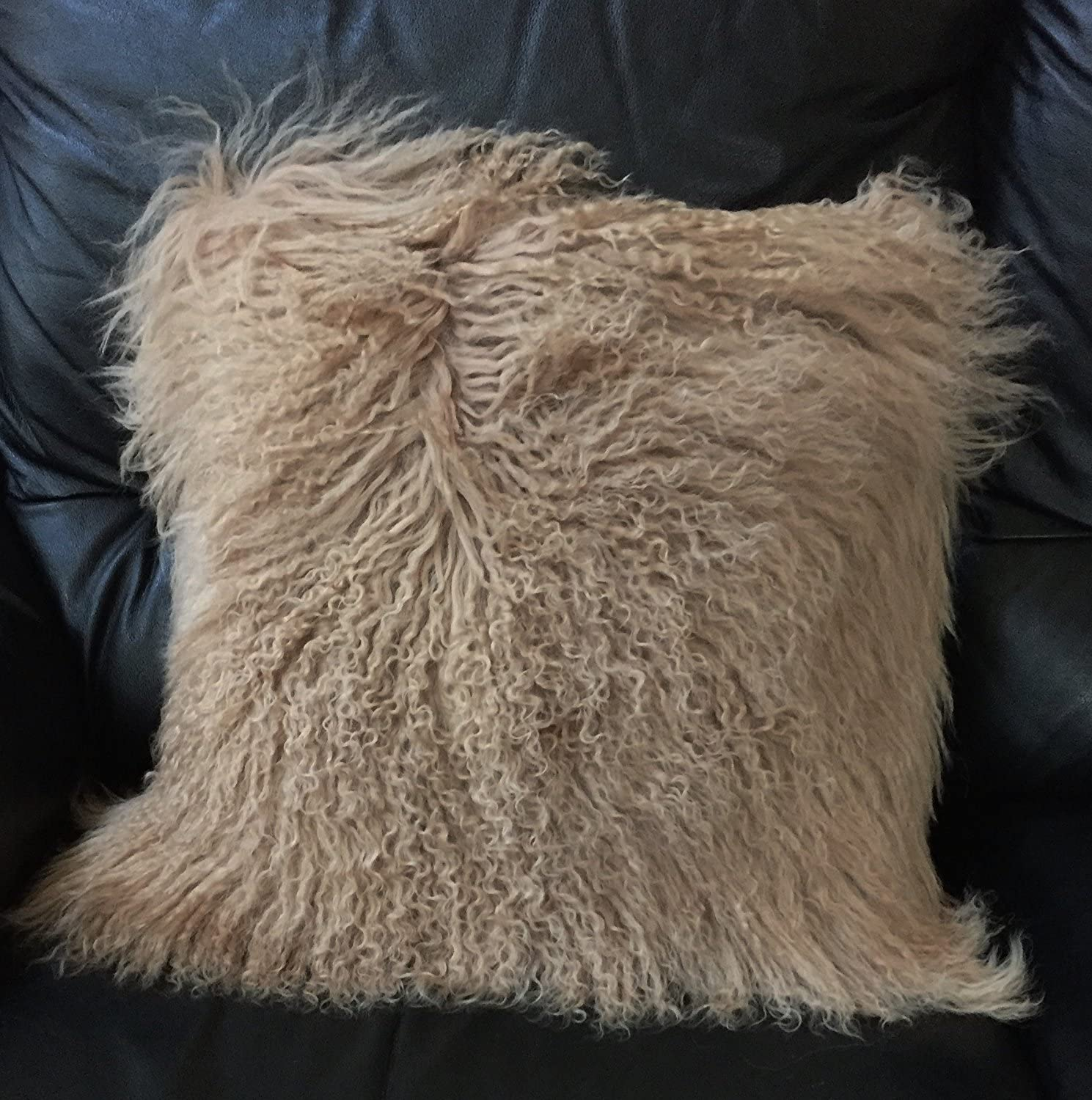 Tibetan Lamb Fur Throw Pillow