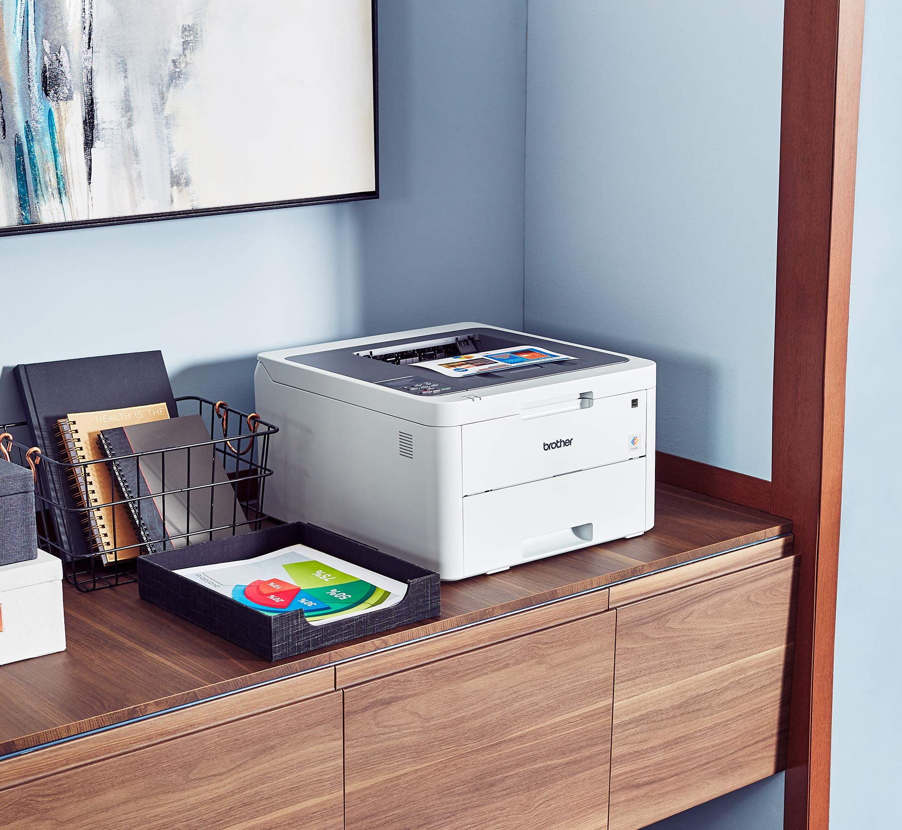 Brother HL-L3210CW Compact Digital Color Printer Providing Laser Printer Quality Results with Wireless, Amazon Dash Replenishment Enabled, White by Brother (Image #2)