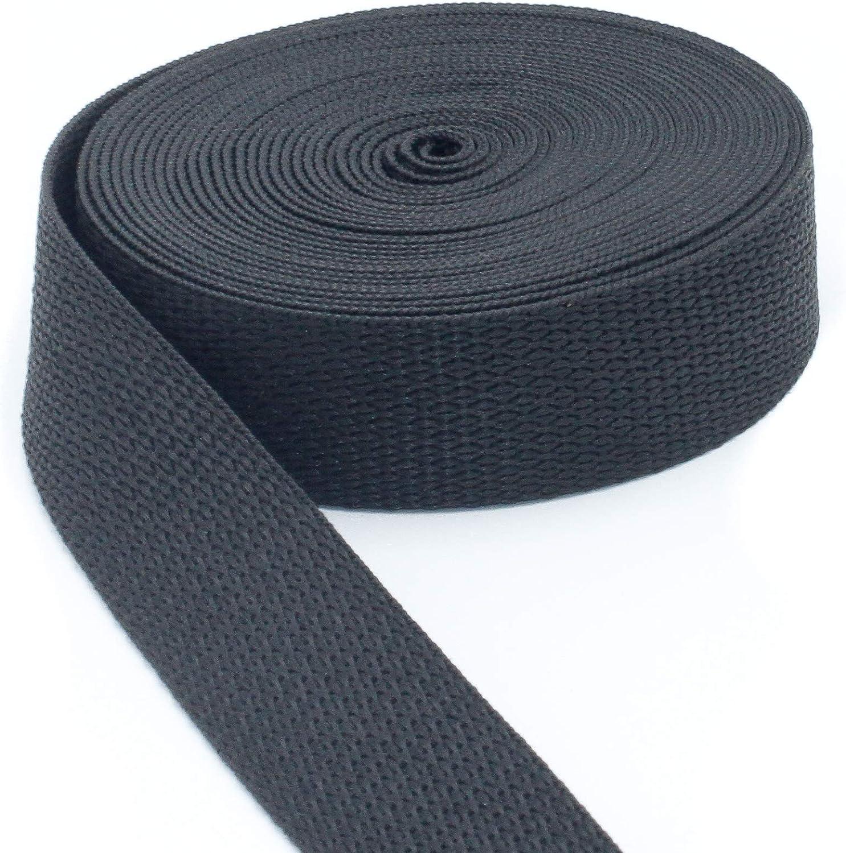 5//8 Inch Polypropylene Webbing: 10 Yards Light Weight 5//8 Strap Webbing Plus Black