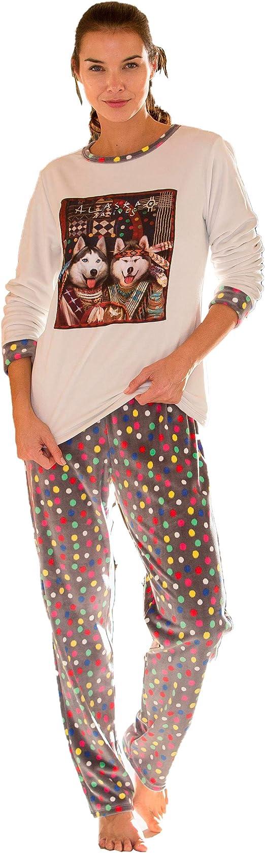 MASSANA - Pijama Mujer de Terciopelo Alaska