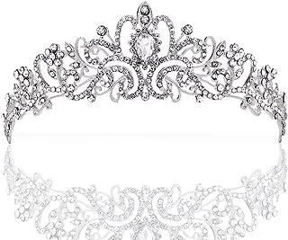 Wolintek Wedding Tiara, Nuziale Diadema con Cristalli Strasscon Pettine per La Cerimonia Nuziale, Proms, spettacoli, Principessa Feste, Compleanno (A)