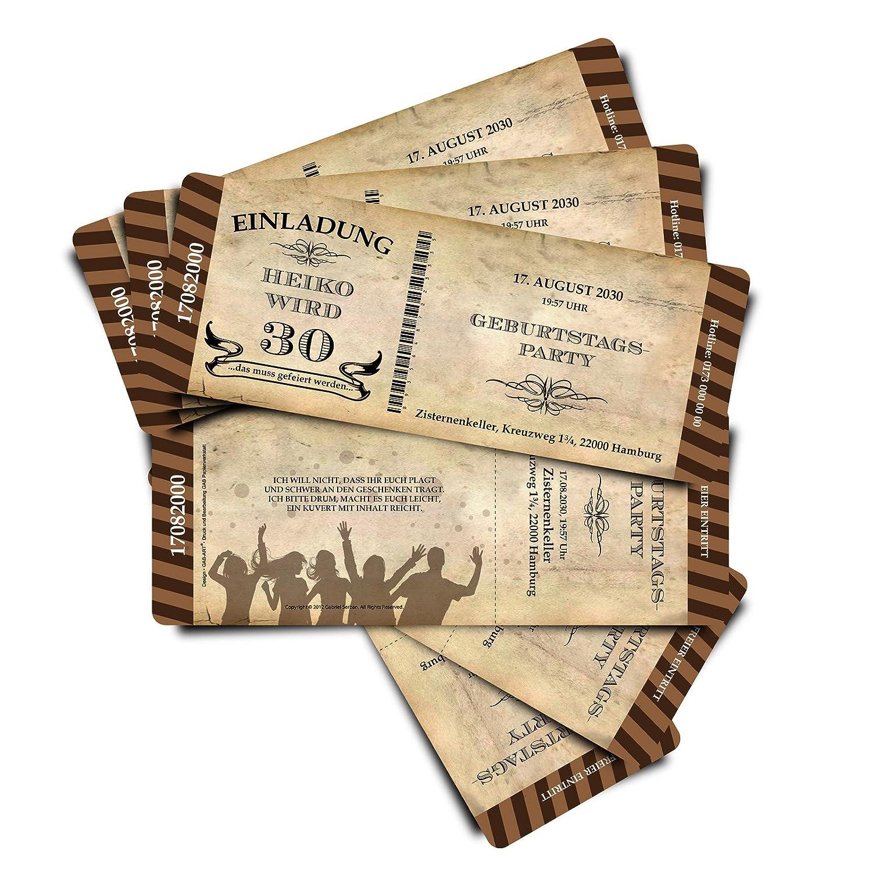 40 Geburtstagskarten Geburtstagseinladungen Geburtstagseinladungen Geburtstagseinladungen Einladungskarten  Stripes  - beige - Ticket Eintrittskarte mit Abriss-Coupon B076GSNJ6X | Spielen Sie das Beste  | Glücklicher Startpunkt  | Sale Deutschland  b0895a