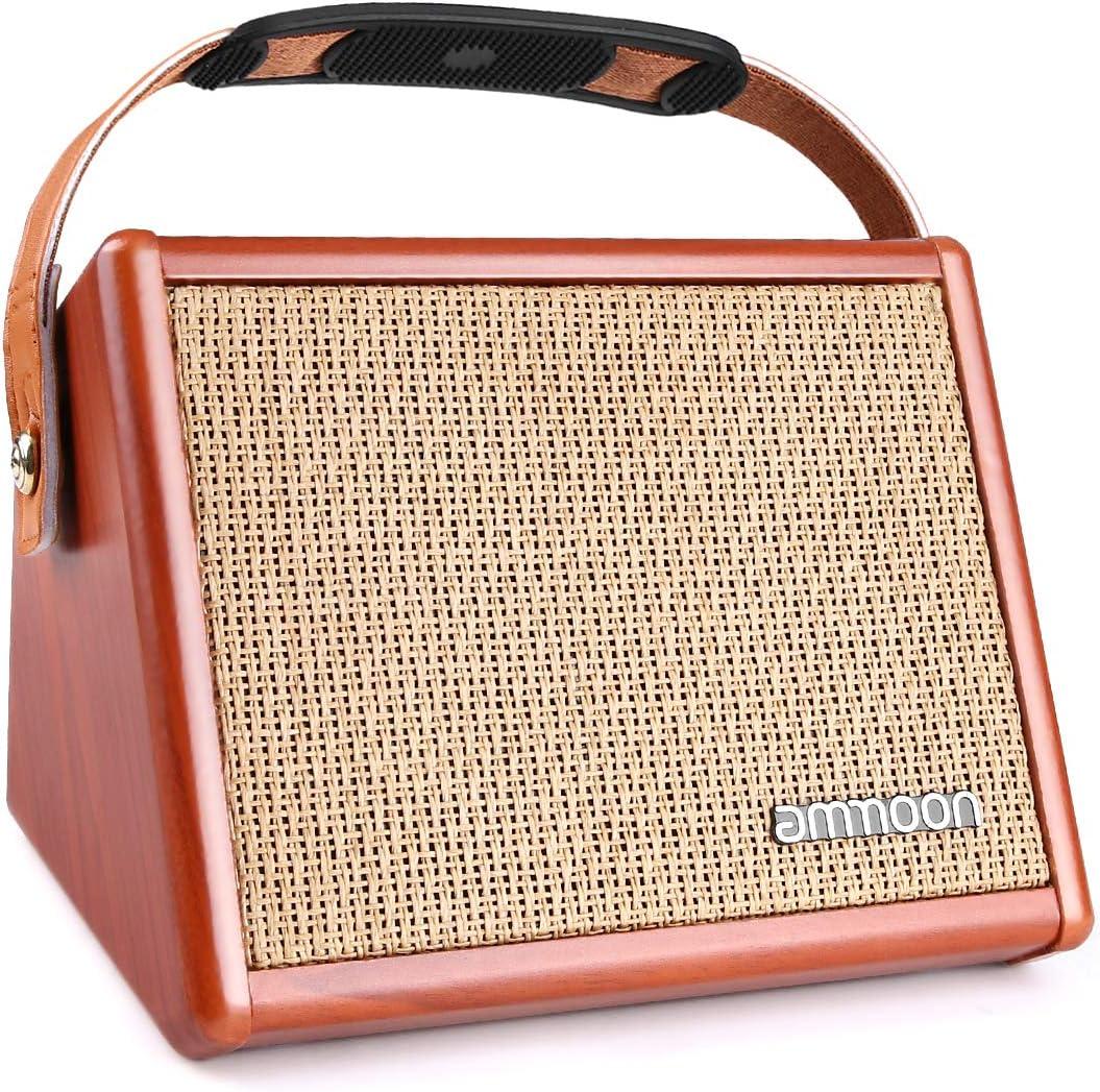 ammoon Amplificador de Guitarra 15W, Mini Amplificador Práctica Para Guitarra Acústica