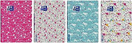Oxford Openflex Floral - Pack de 10 libretas grapadas, A4: Amazon ...