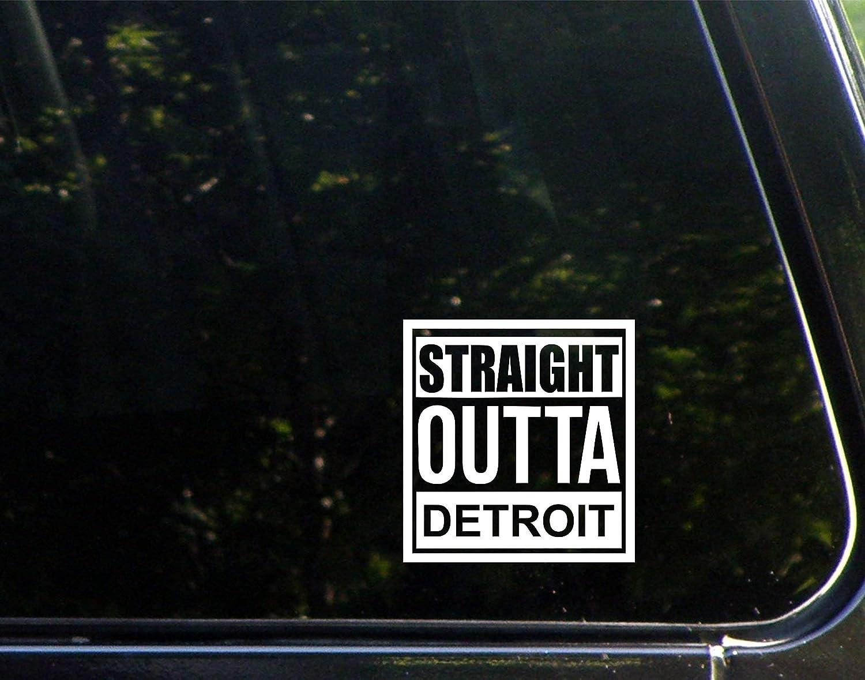 "Diamond Graphics Straight Outta Detroit (4"" X 4"") Die Cut Decal Bumper Sticker for Windows, Cars, Trucks, Laptops, Etc."