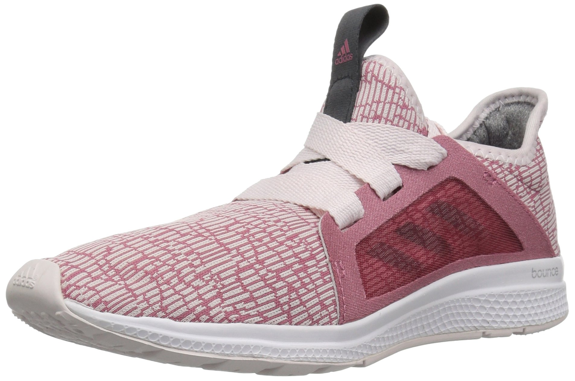 adidas Unisex Edge lux Running Shoe, Orchid Tint/Carbon/Trace Maroon, 4 M US Big Kid