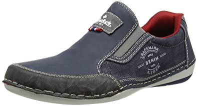 Rieker B9251 Loafers & Mocassins-Men, Herren Slipper, Blau (rauch/denim/denim/47), 42 EU