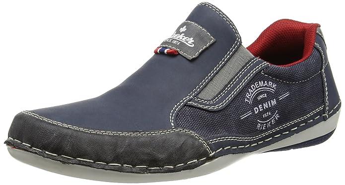Rieker B9251 Loafers & Mocassins-Men, Herren Slipper, Blau (rauch/denim/denim/47), 41 EU