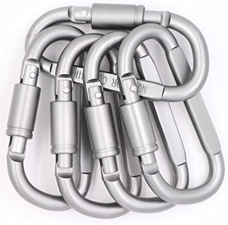 5PC S Type Buckle SBiner  Carabiner Key Ring Keychain Clip Hook NEW TYPE
