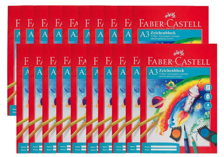 Faber-Castell 212047-20 Zeichenblock DIN A3, FSC-Mix, perforiert, 10 Blatt, 20 Blöcke B018799IKI  | Offizielle Webseite