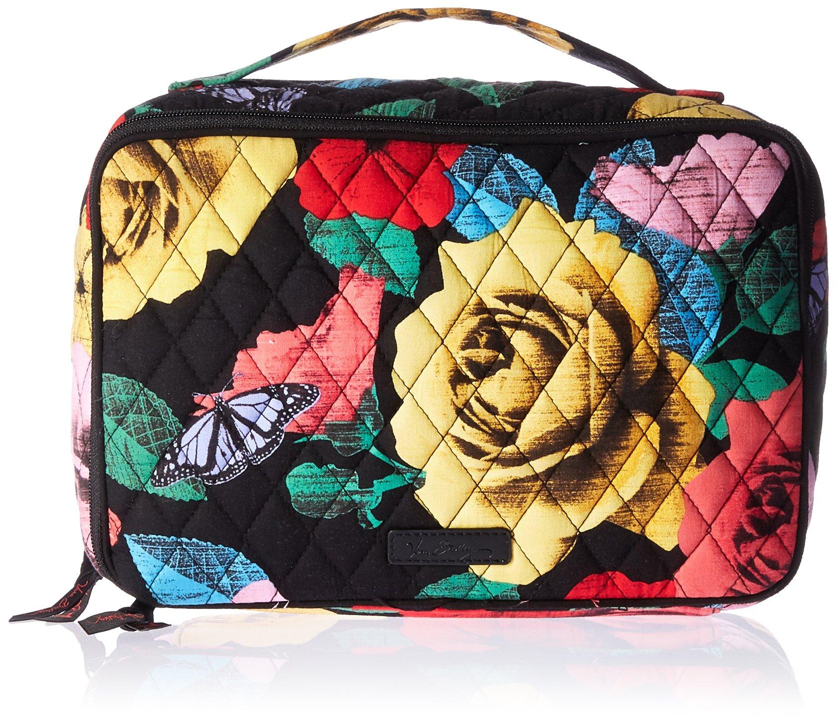 Vera Bradley Large Blush and Brush Makeup Case, Havana Rose