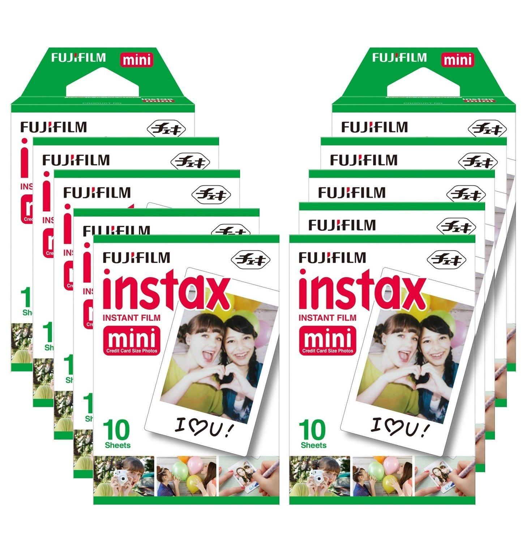 Fujifilm Instax Mini Brillo Pack con paquetes de películas fotográficas instantáneas hojas