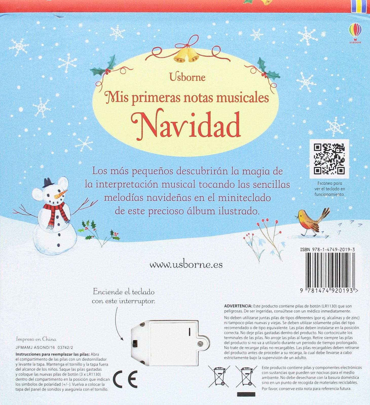 Mis primeras notas musicales. Navidad: USBORNE: 9781474920193: Amazon.com: Books