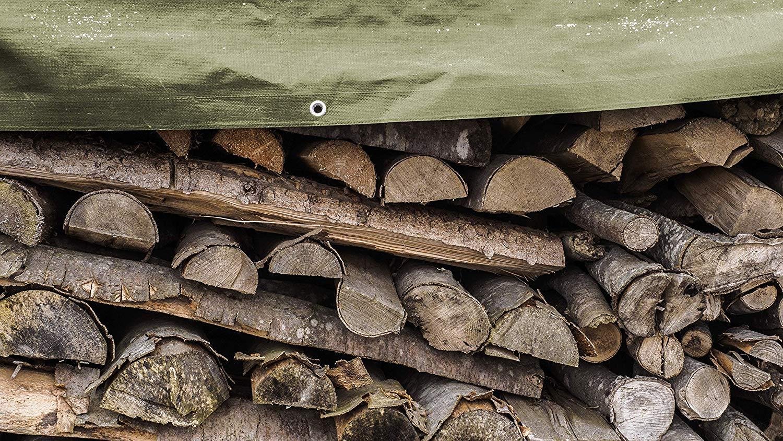 Holz uvm. wasserdicht und wetterfest Motorrad Garten GROUW Gewebeplane 12 x 15m mit /Ösen leichte Abdeckplane f/ürs Auto