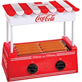 Nostalgia HDR8CK Coca-Cola Hot Dog Warmer 8 Regular Sized, 4 Foot Long and 6 Bun Capacity, Stainless Steel Rollers…