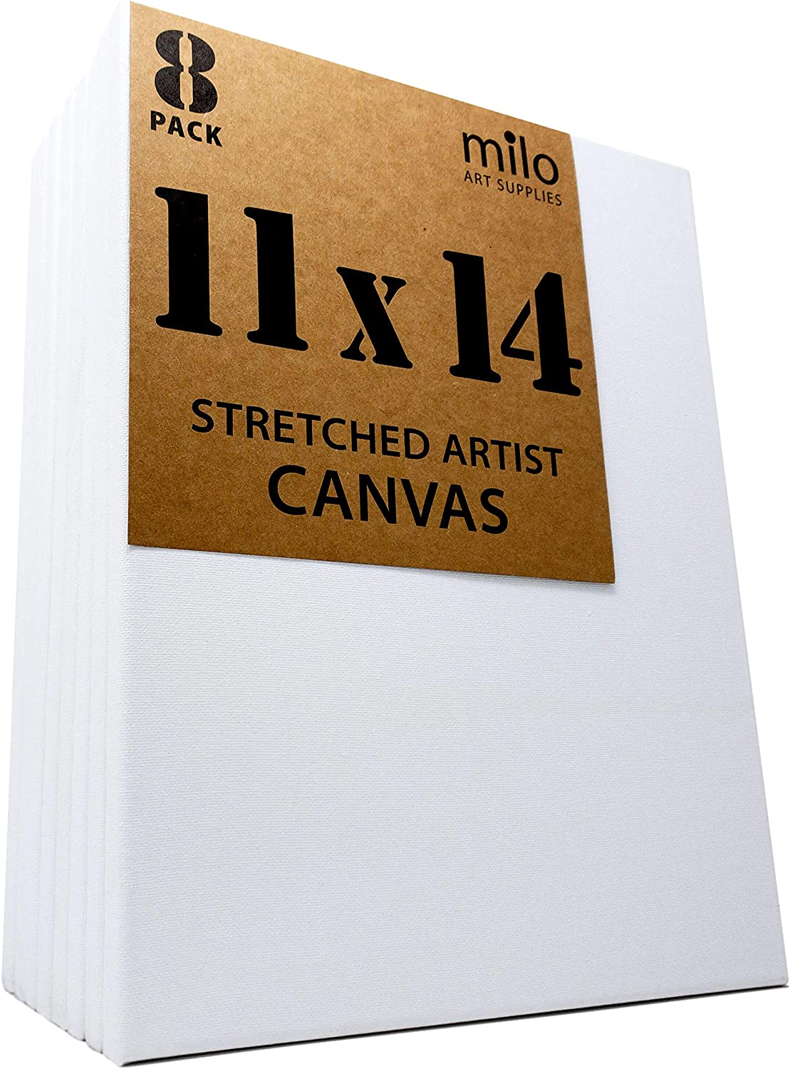milo Pro Stretched Artist Canvas 18x24 inches 3//4 inch Studio Profile Pack of 4