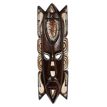 Amazon.de: Wandmaske Afrika Wanddeko Holzmaske Schnitzerei Maske ...