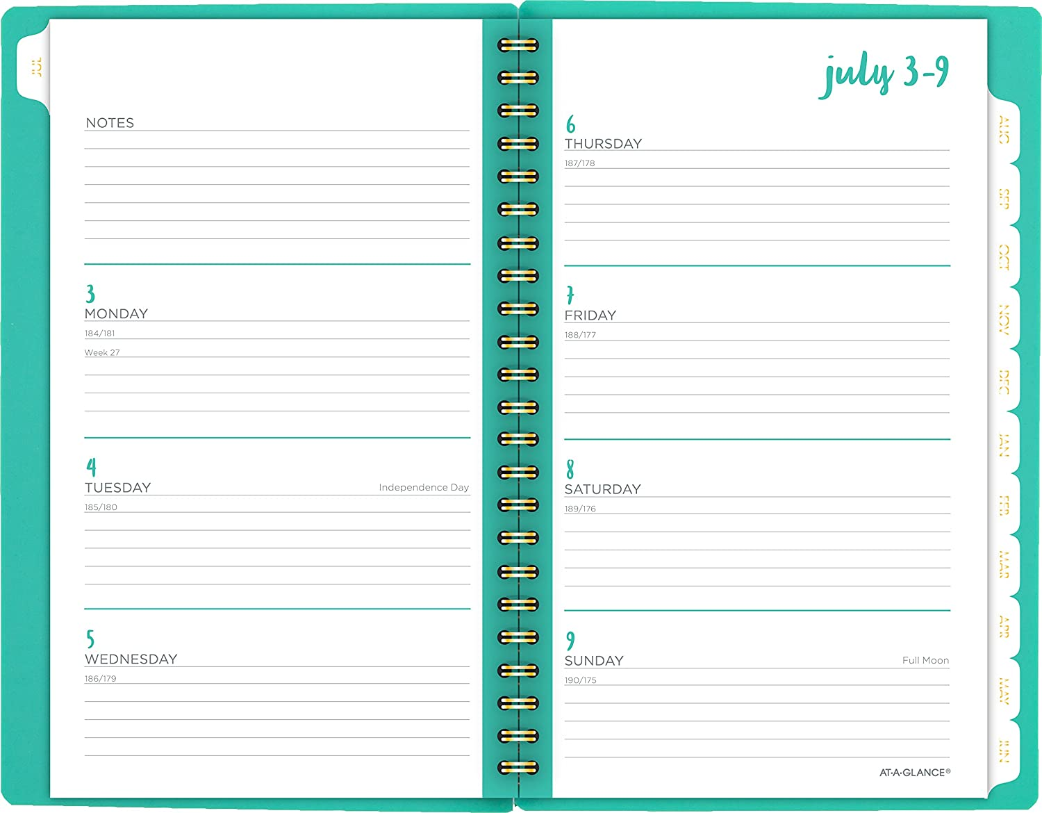 at a glance 2017 2018 weekly monthly academic planner 12 months