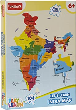 Play & Learn India Map Puzzles