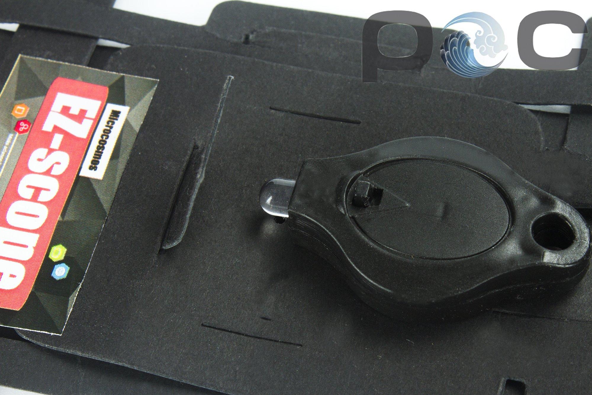 Lab LED mini colours paper microscope biological science outdoor pocket foldscope (color)